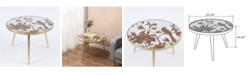 Luxen Home Metal And Mirror Bird Accent Table