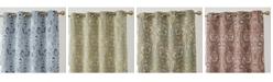 HLC.me Obscura Melton Paisley Blackout Grommet Curtain Panels - Set of 2
