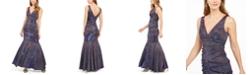 XSCAPE Metallic Glitter Mermaid Gown