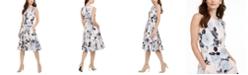 Calvin Klein Floral-Print Fit & Flare Midi Dress