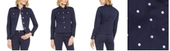 Charter Club Petite Printed Denim Jacket, Created For Macy's