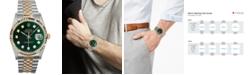 Pre-Owned Rolex Men's Swiss Automatic Datejust Jubilee Diamond (1/6 ct. t.w.) 18k Gold & Stainless Steel Bracelet Watch 36mm