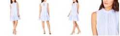 Calvin Klein Striped Cotton Trapeze Dress