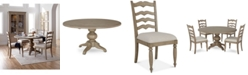 Furniture Ellan Round Dining Furniture, 5-Pc. Set (Table & 4 Side Chairs), Created for Macy's