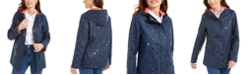 Charter Club Embossed-Dot Hooded Jacket, Created for Macy's