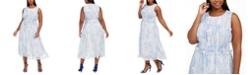 Taylor Plus Size Paisley-Print Sleeveless Dress