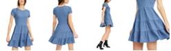 Be Bop Juniors' Heathered Tiered T-Shirt Dress