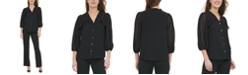 Calvin Klein Ruffled-Front Blouse