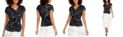 Alfani Twist-Front Top, Created for Macy's