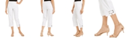 JM Collection Grommet-Trimmed Capri Pants, Created for Macy's