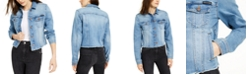 Calvin Klein Jeans Cotton Frayed Trucker Denim Jacket