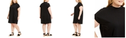 Eileen Fisher Plus Size Cap-Sleeve Dress, Created for Macy's
