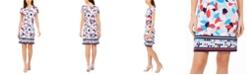 Pappagallo Border-Print Sheath Dress