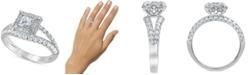 Macy's Diamond Princess Split Shank Engagement Ring (1-1/4 ct. t.w.) in 14k White Gold