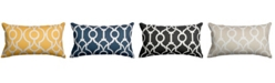 """Majestic Home Goods Athens Decorative Soft Throw Pillow Small 20"""" x 12"""""""
