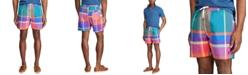 """Polo Ralph Lauren Men's 5.5"""" Inch Plaid Traveler Swim Trunks"""