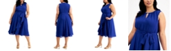 Jessica Howard Plus Size Ruffled Midi Dress