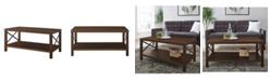 Walker Edison Rustic Wood Coffee Table