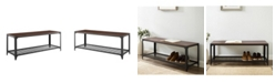 """Walker Edison 48"""" Industrial Angle Iron Entry Bench"""