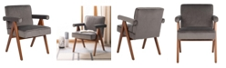 Furniture Suri Mid Century Arm Chair In Brown