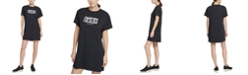 DKNY Sport Cotton Printed-Logo T-Shirt Dress