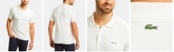 Lacoste Men's Slim Fit Short Sleeve Stretch Cotton Pique Solid Polo Shirt with Retro Lacoste Logo
