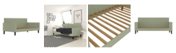 Handy Living Lupton Upholstered Twin Size Square Back Daybed