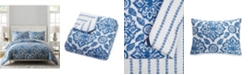 Jessica Simpson Vera Bradley Stitched Medallions Queen Comforter Set - 3Pc