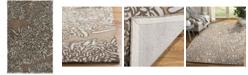 Martha Stewart Collection Chrysanthemum MSR4542G Driftwood 4' x 4' Round Area Rug