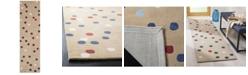 "Martha Stewart Collection Confetti Dot MSR4564C Tobacco 2'3"" x 8' Runner Area Rug"
