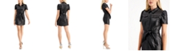 GUESS Lina Faux-Leather Shirtdress