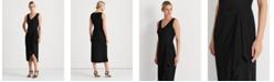 Lauren Ralph Lauren Georgette V-Neck Dress