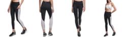 DKNY Sport Contrast-Panel High-Waist Leggings