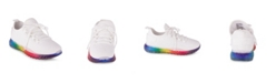 Wanted Women's Affinity Lace Up Rainbow Sole Sneakers