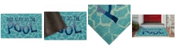 Liora Manne' Liora Manne Natura This Way To The Pool Water Aqua 2' x 3' Area Rug