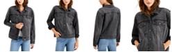Style & Co Black Denim Trucker Jacket, Created for Macy's