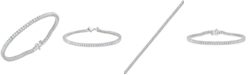 Macy's Diamond Princess Tennis Bracelet (3-1/2 ct. t.w.) in 14k White Gold
