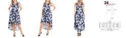 24seven Comfort Apparel Women's Plus Size High Low Dress