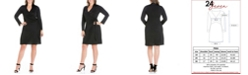 24seven Comfort Apparel Women's Plus Size Mini Wrap Dress