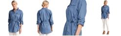 Lauren Ralph Lauren Utilitarian Style Linen Shirt