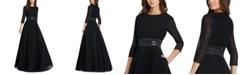 MAC DUGGAL Embellished-Waist Pleated-Skirt Gown