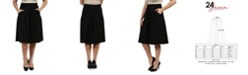 24seven Comfort Apparel Women's Classic Knee Length Skirt