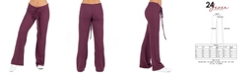 24seven Comfort Apparel Women's Plus Size Waffle Fabric Drawstring Lounge Pants