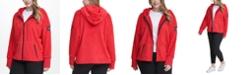 Calvin Klein Plus Size Fleece Zip-Front Hooded Jacket
