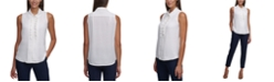 Tommy Hilfiger Ruffle-Front Sleeveless Top