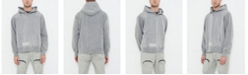 nANA jUDY Men's Classic Hooded Sweater with Half Button Neck and Contrast Patches