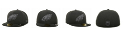 New Era Philadelphia Eagles Black Gray 59FIFTY Hat