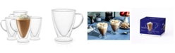 JoyJolt Declan Irish Coffee Double Wall Insulated Mugs, Set of 4
