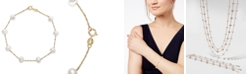 EFFY Collection EFFY® Cultured Freshwater Pearl Station Bracelet (5-1/2-6mm) in 14k Gold (Also available in 14k White Gold and 14k Rose Gold)