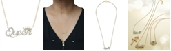 """Wrapped Diamond """"Queen"""" 20"""" Pendant Necklace (1/6 ct. t.w.) in 14k Gold, Created for Macy's"""